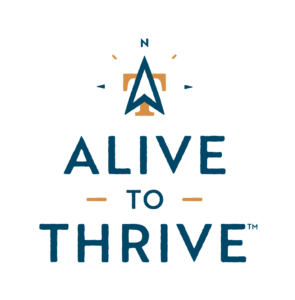 Alive to Thrive logo stacked vertically