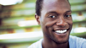 Close up of smiling African American man
