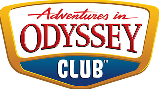 Adventures in Odyssey Club logo, plain white background
