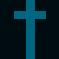 Small image of a plain, blue cross