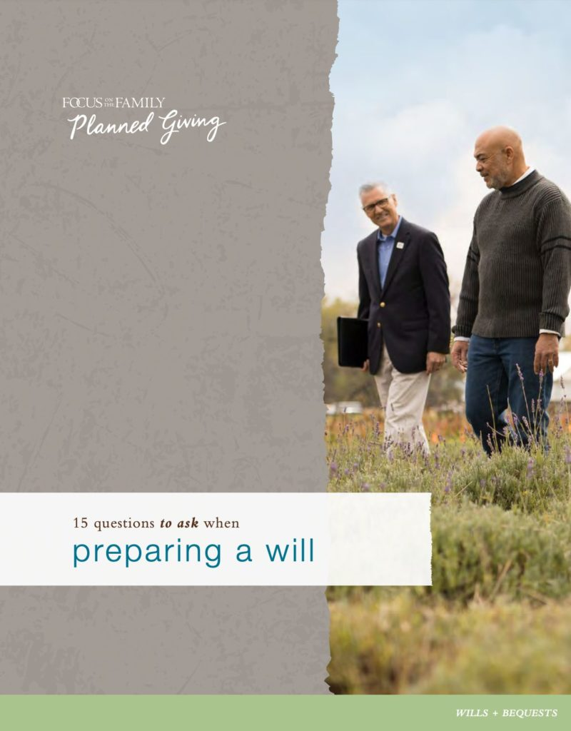 eBook Cover: 15 Questions to Ask When Preparing a Will