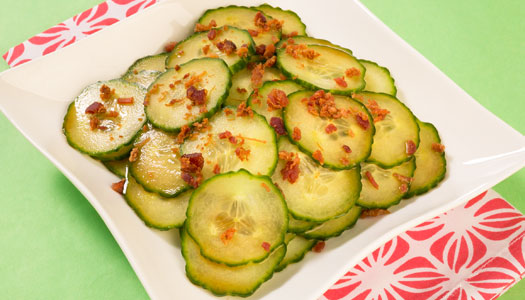 Picklelicious appetizer on a plate