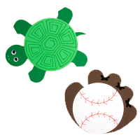 Turtle and Mitt Mousepads