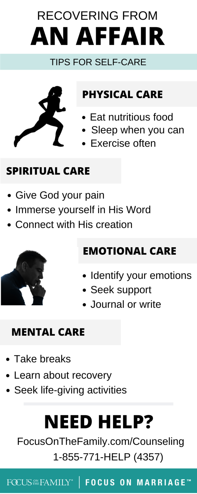 self-care when recovering from an affair
