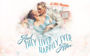 Hollywood film cover of couple living happily ever after