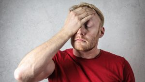 man coping with anxiety
