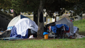 homeless tent encampment