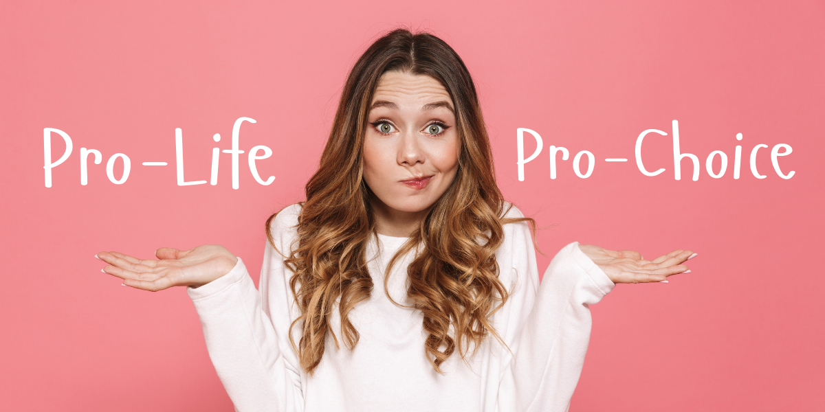 A young women debates between what is pro-life and pro-choice.