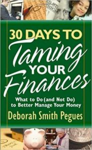 """Cover image of Deborah Pegues' book """"30 Days to Taming Your Finances"""""""