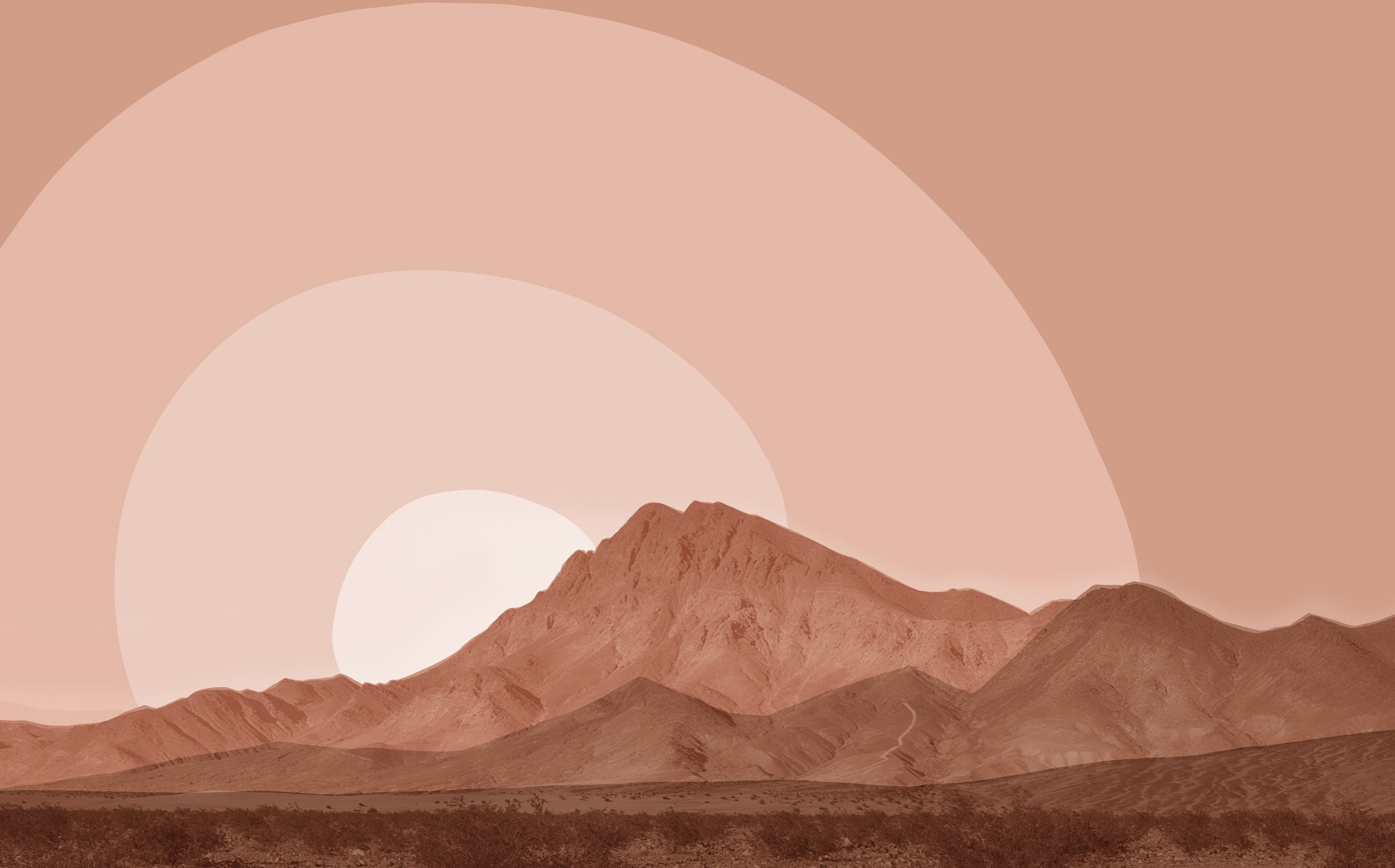 Burden of Depression - Photo collage of a mountain composed of brown shades