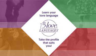 Promotional image for Gary Chapman's 5 love languages quiz