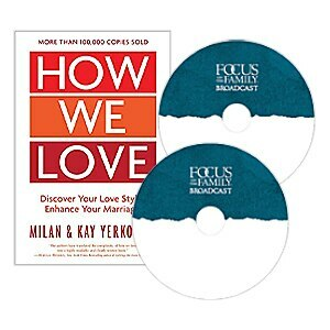 """Image of 2 Focus on the Family broadcast CDs and the book """"How We Love"""""""