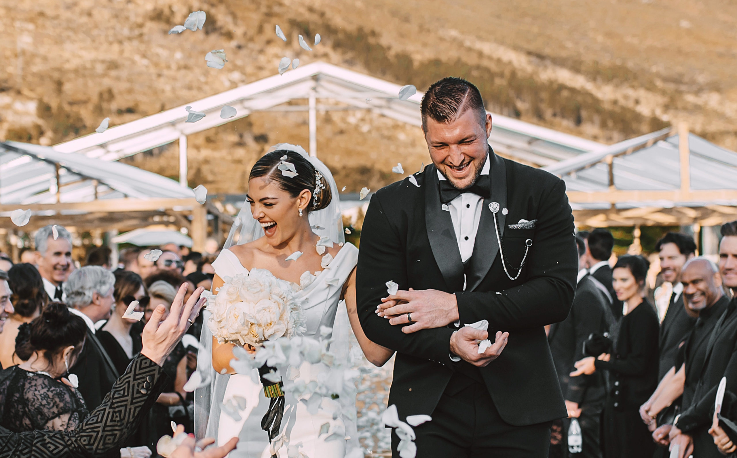 Wedding photo of Tim and Demi-Leigh Tebow