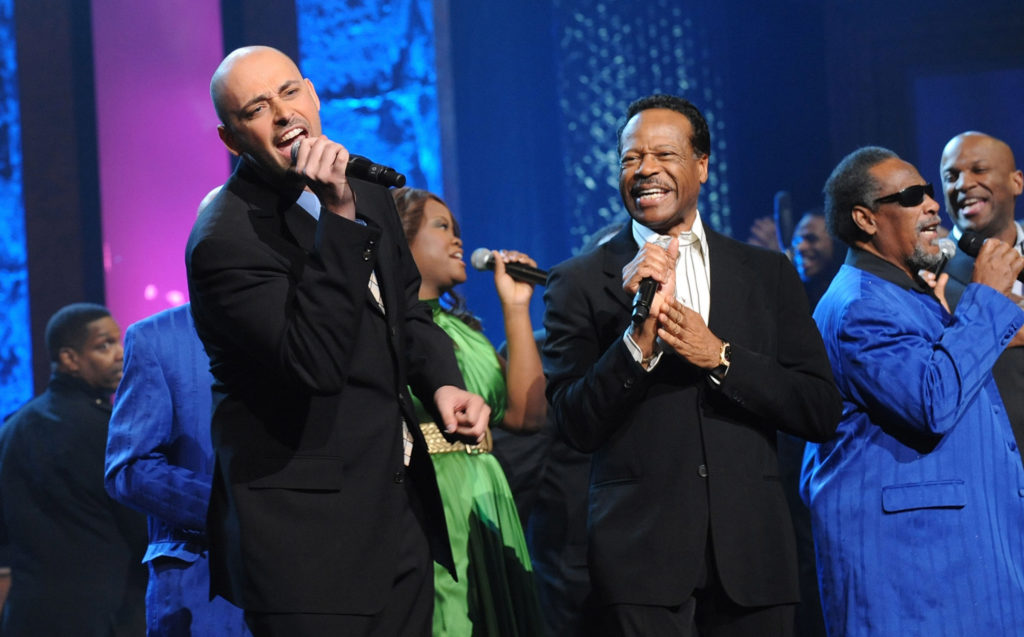 Musicians Edwin Hawkins, Phil Stacey and the Blind Boys of Alabama perform onstage at the 40th Annual GMA Dove Awards held at the Grand Ole Opry House on April 23, 2009 in Nashville, Tennessee. Finding Humility