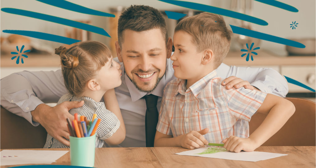 Working Parent with two children