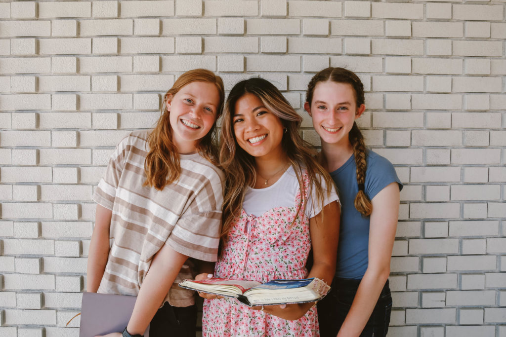 girls with Bible